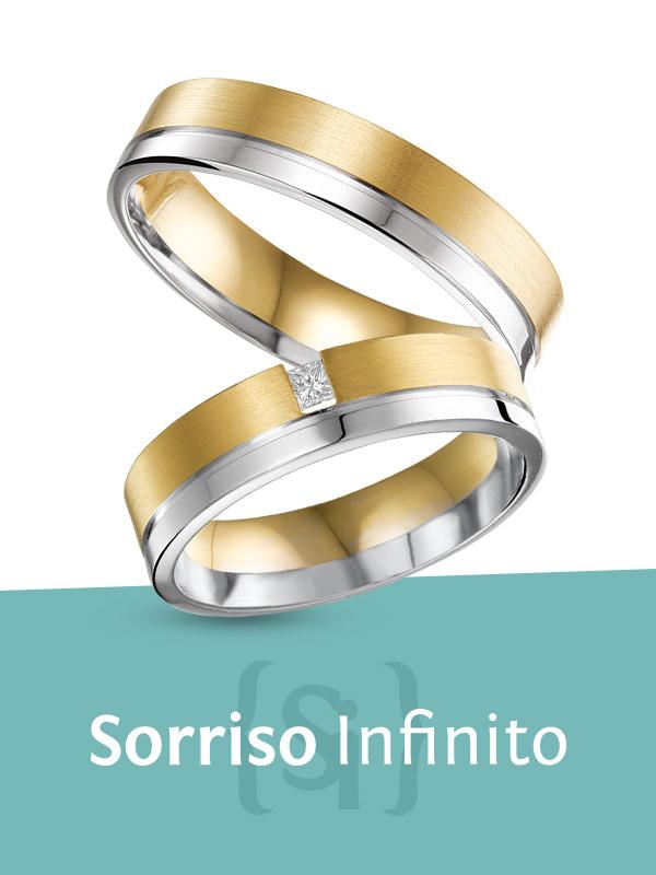 Sorriso Infinito - gouden trouwringen