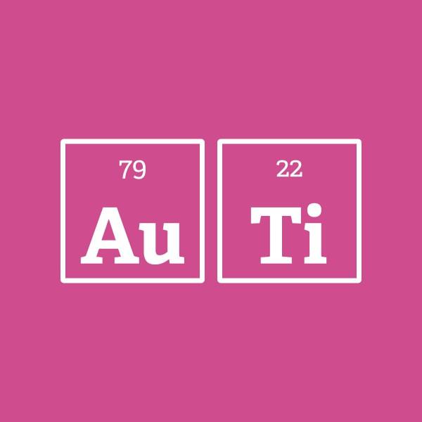 Goud en titanium elementen